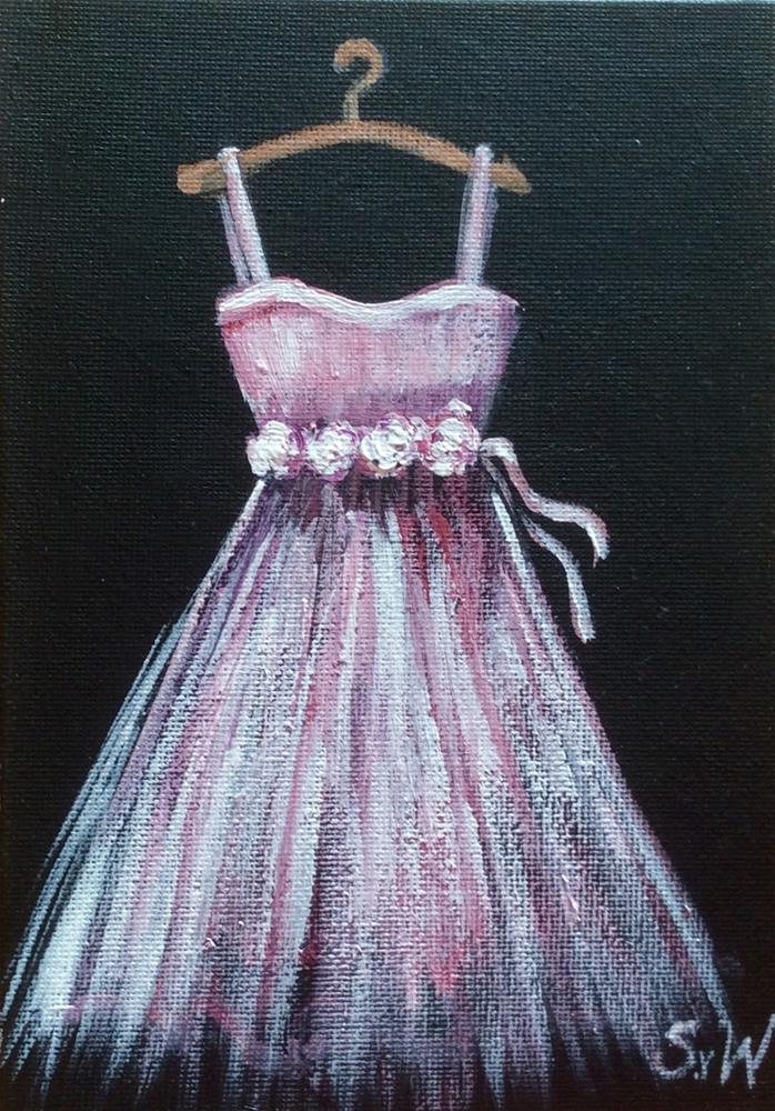 """""""Pink Bridesmaid dress"""" original fine art by Sonia von Walter"""