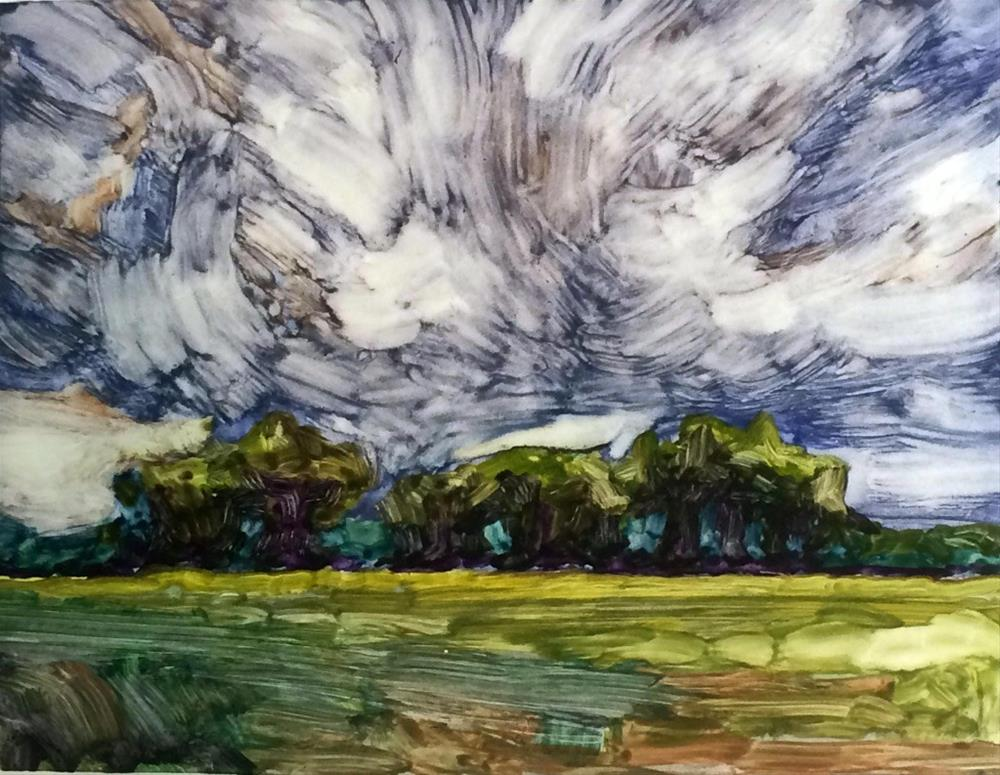 """Storm Over the Grove"" original fine art by Mary Gilkerson"