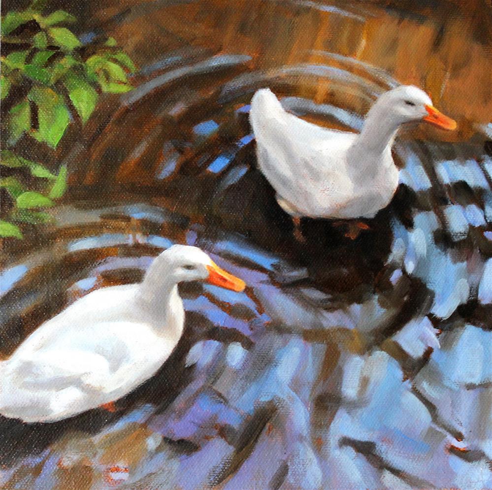 """Brookpark Ducks"" original fine art by Joan Carroll"