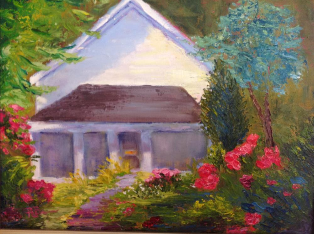 """The Summer House"" original fine art by Rose Brenner"