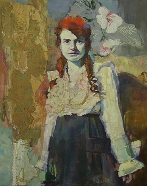 """""""Flamin' Red"""" original fine art by Katie Wilson"""