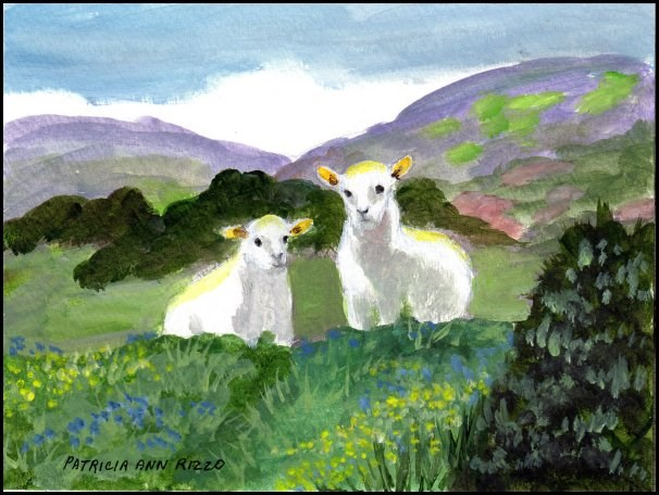 """The Sheepish Challenge"" original fine art by Patricia Ann Rizzo"