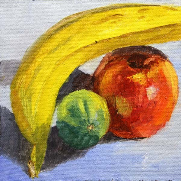 """Balanced Banana"" original fine art by Jane Frederick"