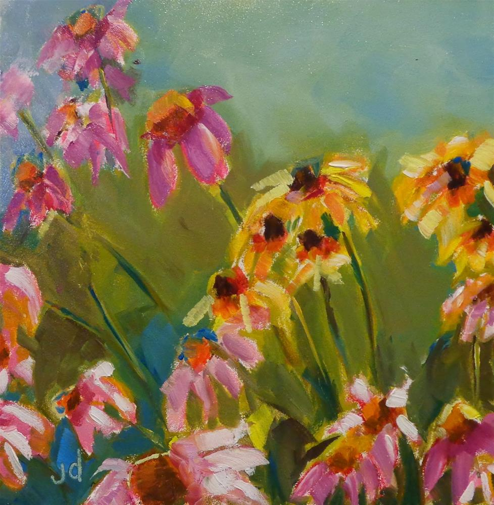 """Wild flowers"" original fine art by Jean Delaney"