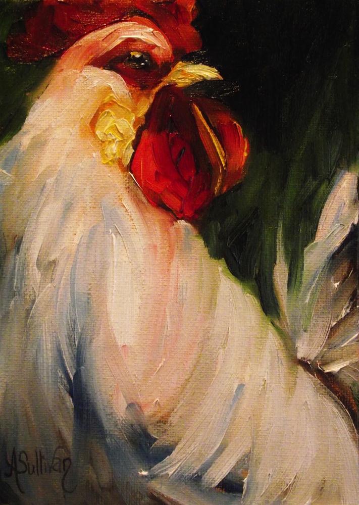 """Before The Cock Crows"" original fine art by Angela Sullivan"
