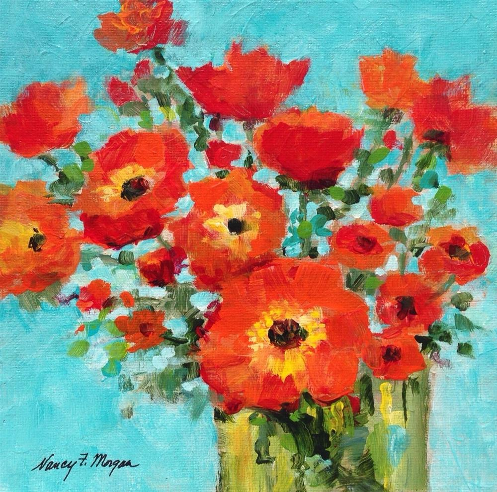 """The Joy of Poppies"" original fine art by Nancy F. Morgan"