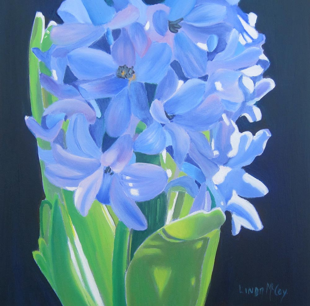 """Hyacinth 2011"" original fine art by Linda McCoy"