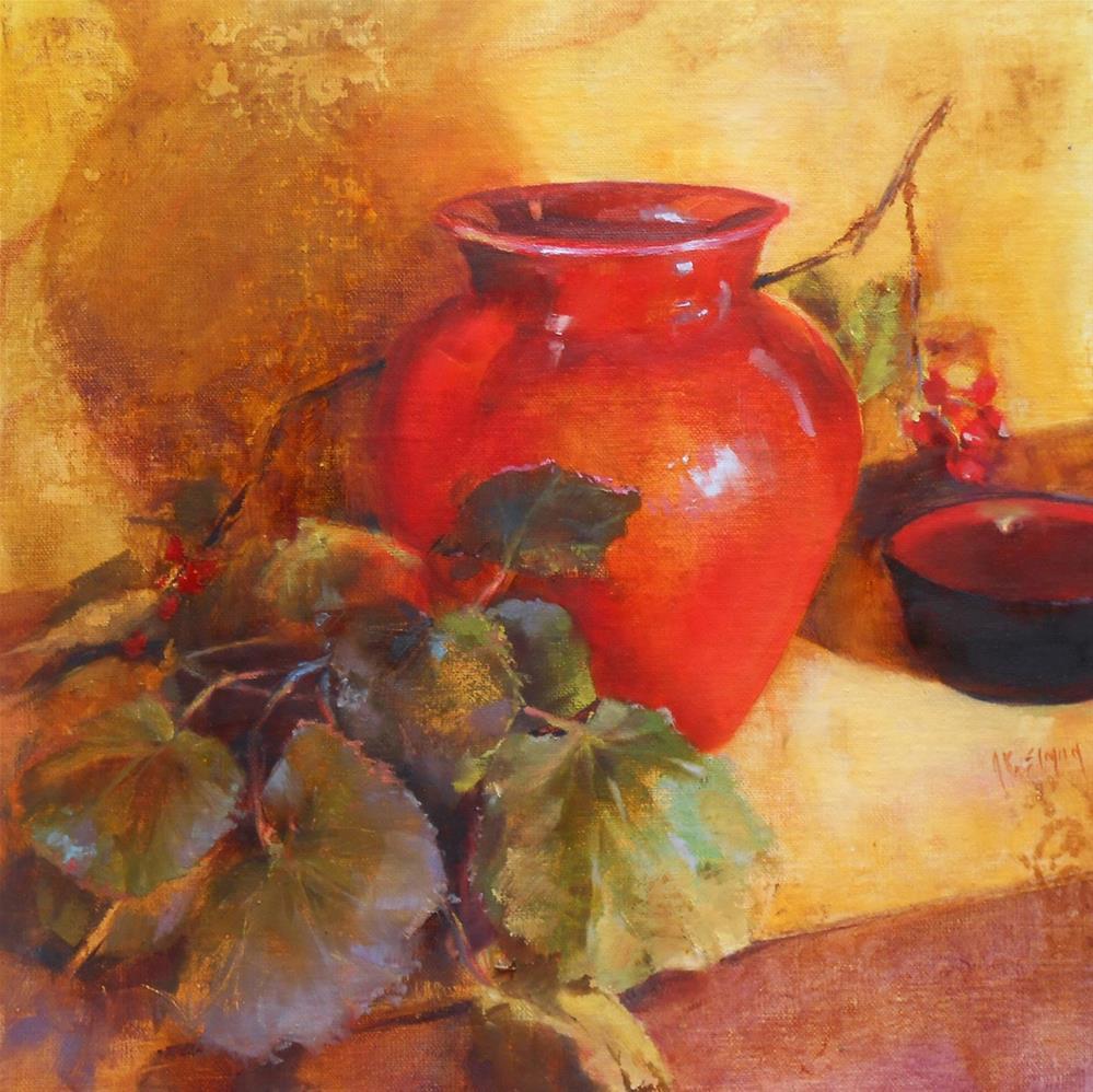 """Crimson and Violets"" original fine art by A.K. Simon"