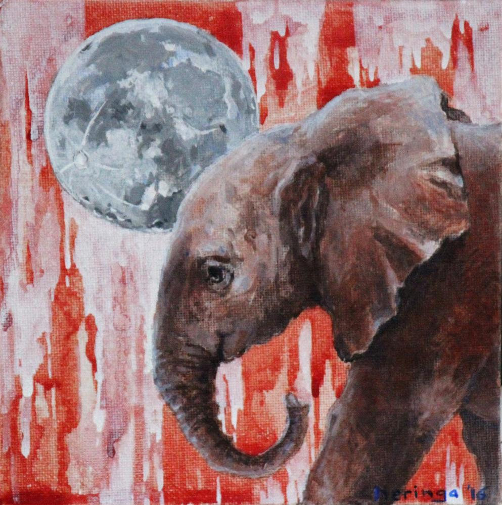 """Blood Ivory"" original fine art by Neringa Maxwell"