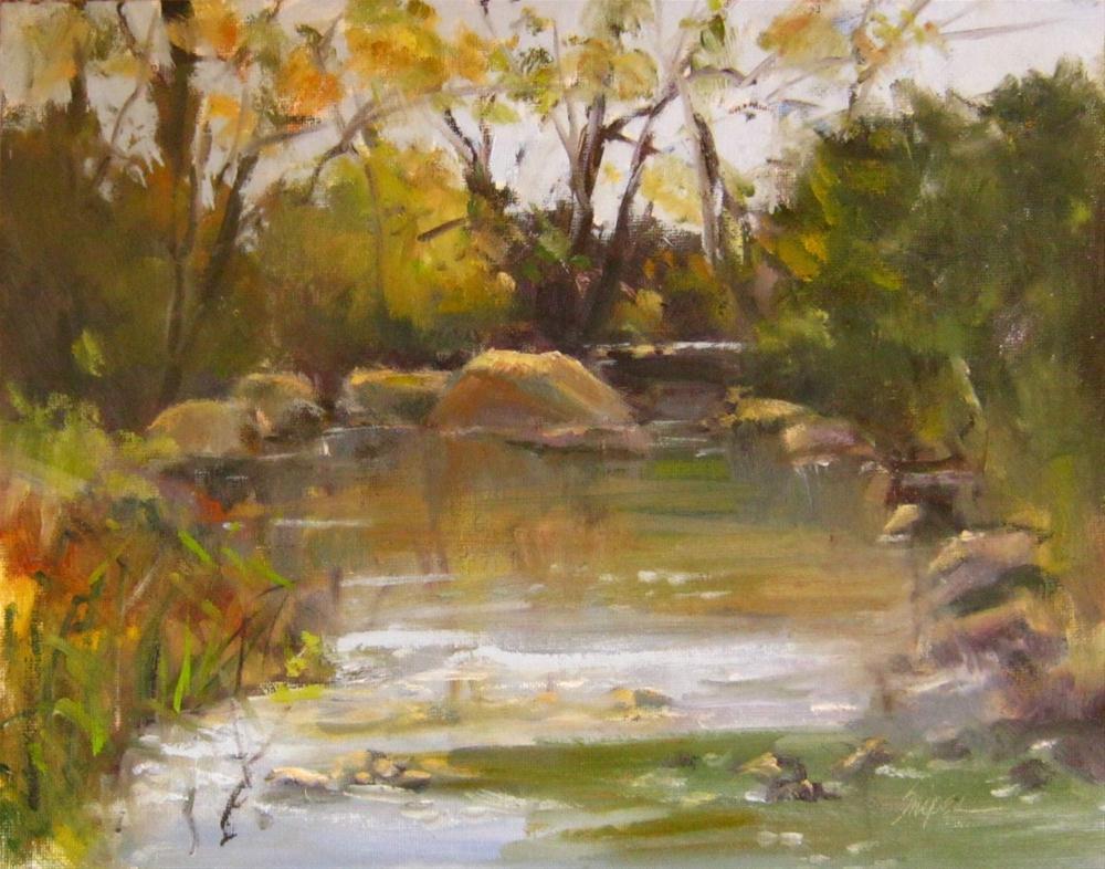 """Little Sugar Creek, Charlotte, NC"" original fine art by Connie Snipes"