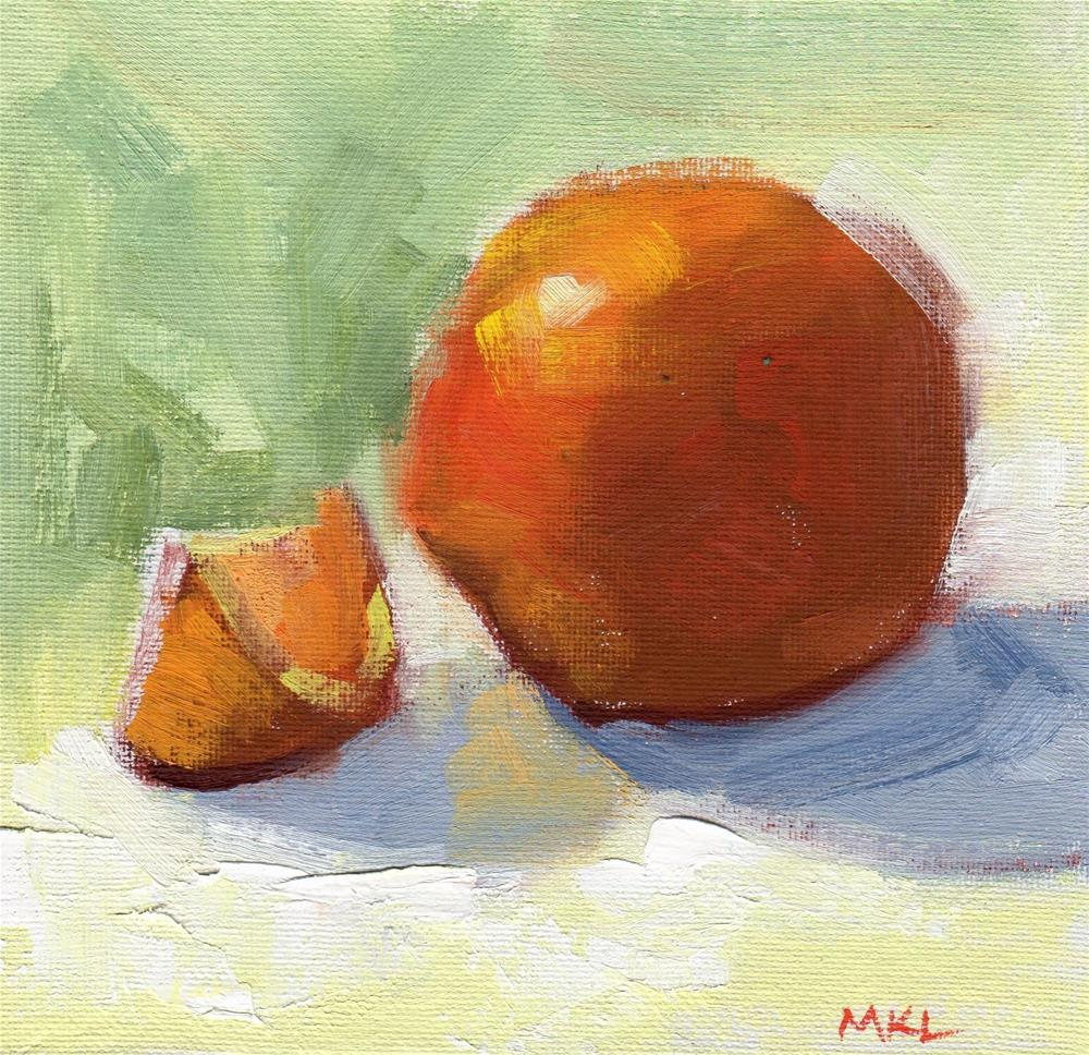 """Sliced Orange"" original fine art by Marlene Lee"