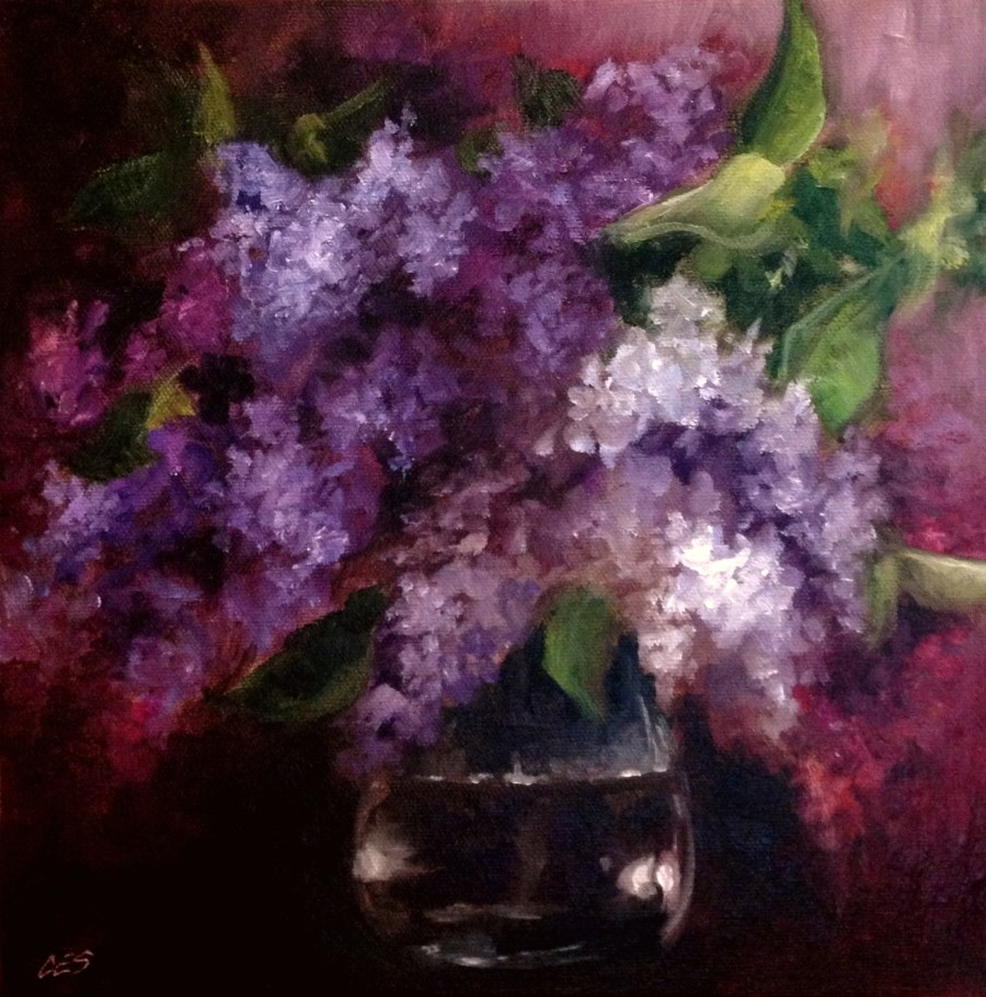 """Lilac Bouquet"" original fine art by ~ces~ Christine E. S. Code"
