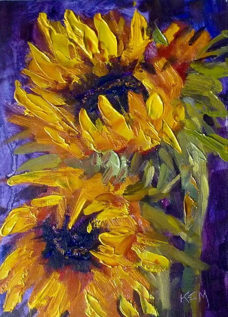 """""""Something New....Trying Cobra Water Mixable Oils"""" original fine art by Karen Margulis"""