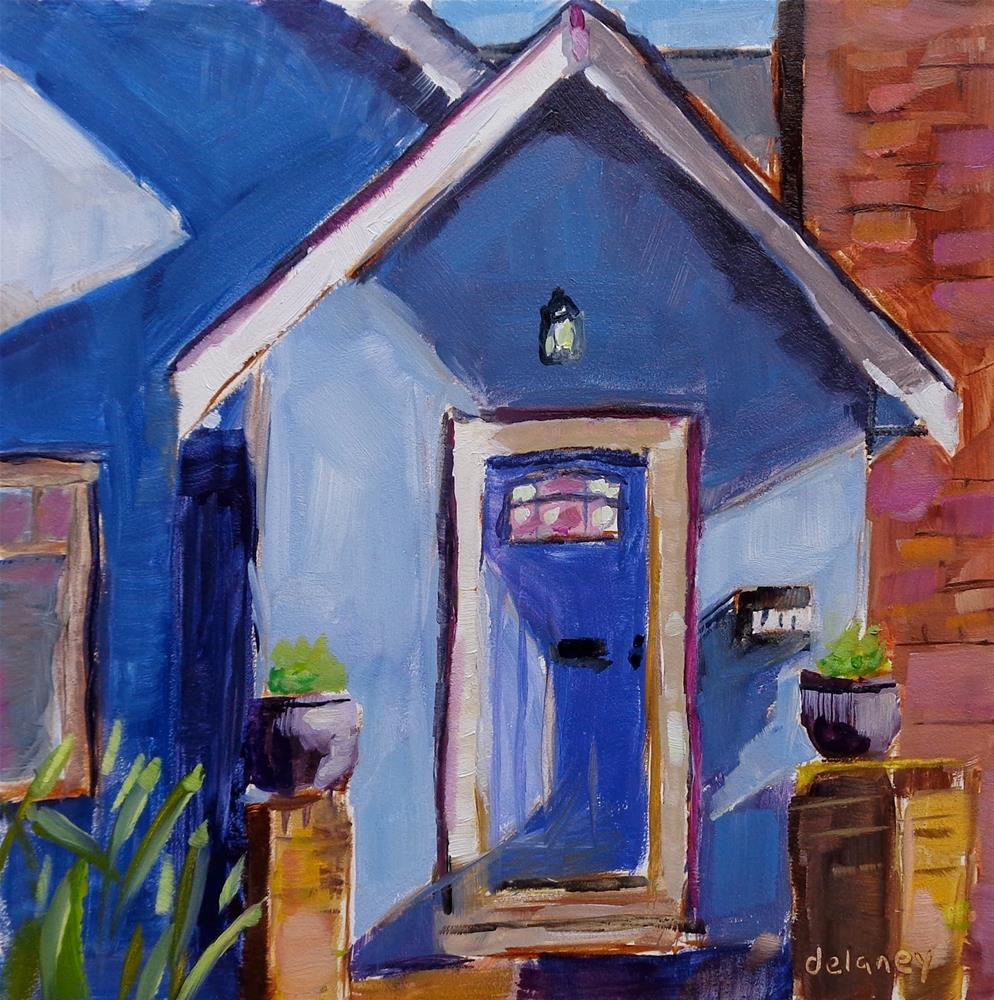 """COOK STREET"" original fine art by Jean Delaney"