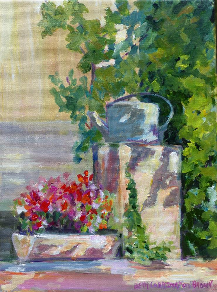 """Sunlight and Shadows At Cezanne's"" original fine art by Beth Carrington Brown"