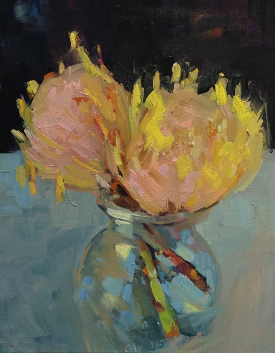 """Photon Protea"" original fine art by Patti McNutt"