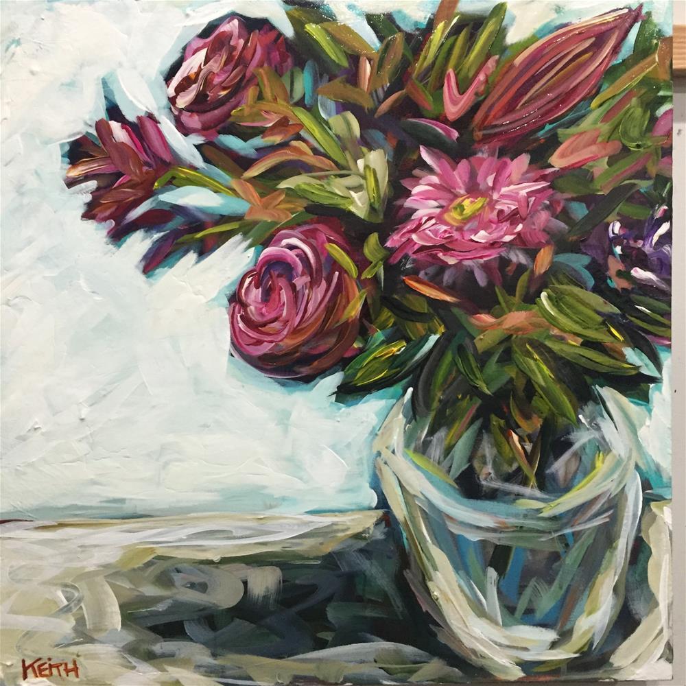 """Birthday Flowers"" original fine art by Kandice Keith"