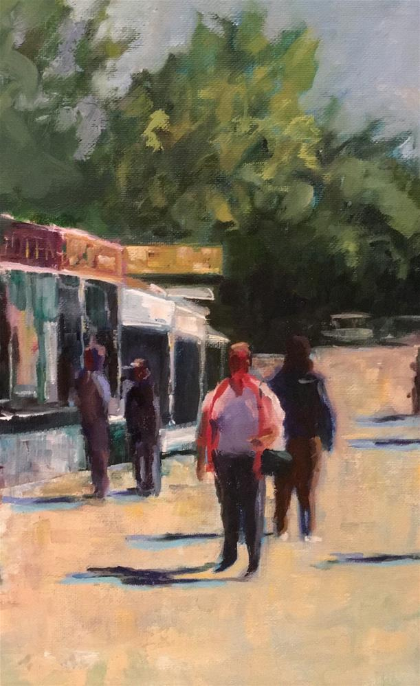 """Fair Food"" original fine art by Wanda Lowery"