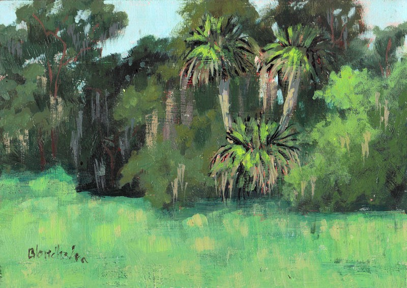 """Field Palms"" original fine art by Linda Blondheim"