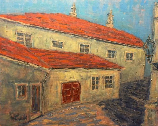 """Cesky Krumlov #2"" original fine art by William Cook"