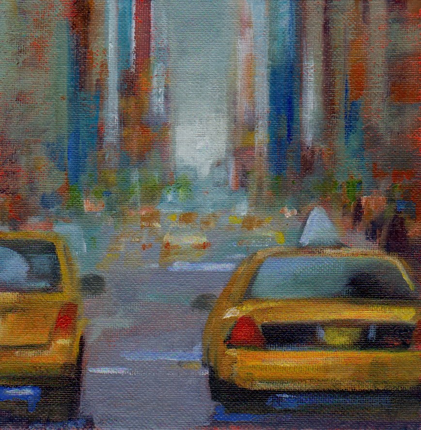 """NYC"" original fine art by V. DeBak"