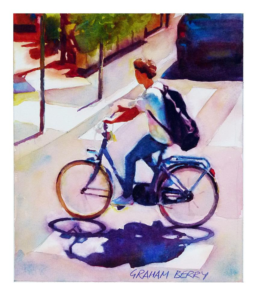 """Cycling home."" original fine art by Graham Berry"