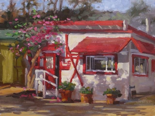 """""""L-5 Cottage At Crystal Cove"""" original fine art by Karen Werner"""
