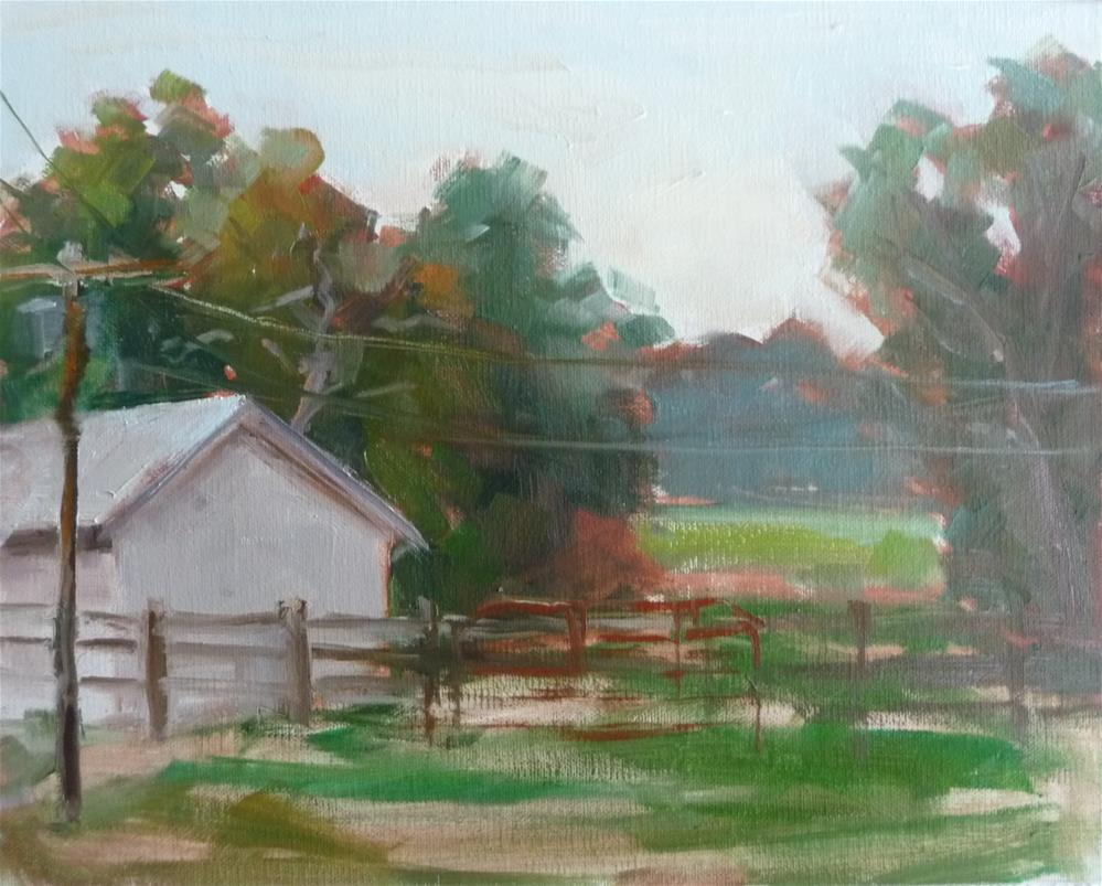 """Braehead Farm"" original fine art by Carol Josefiak"