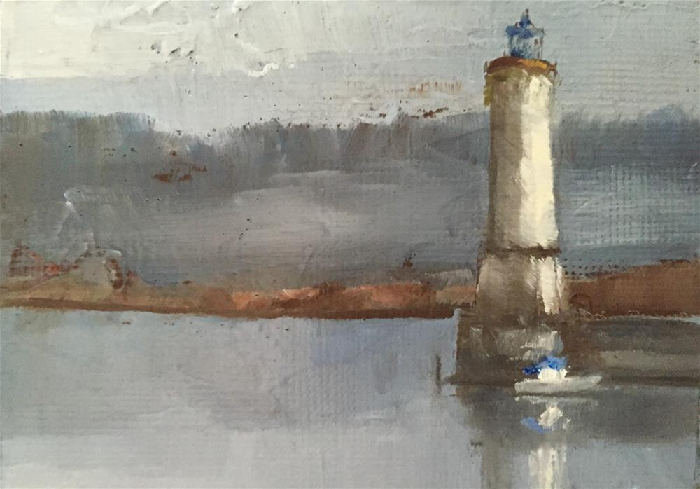 """Lighthouse, Morning"" original fine art by Gary Bruton"