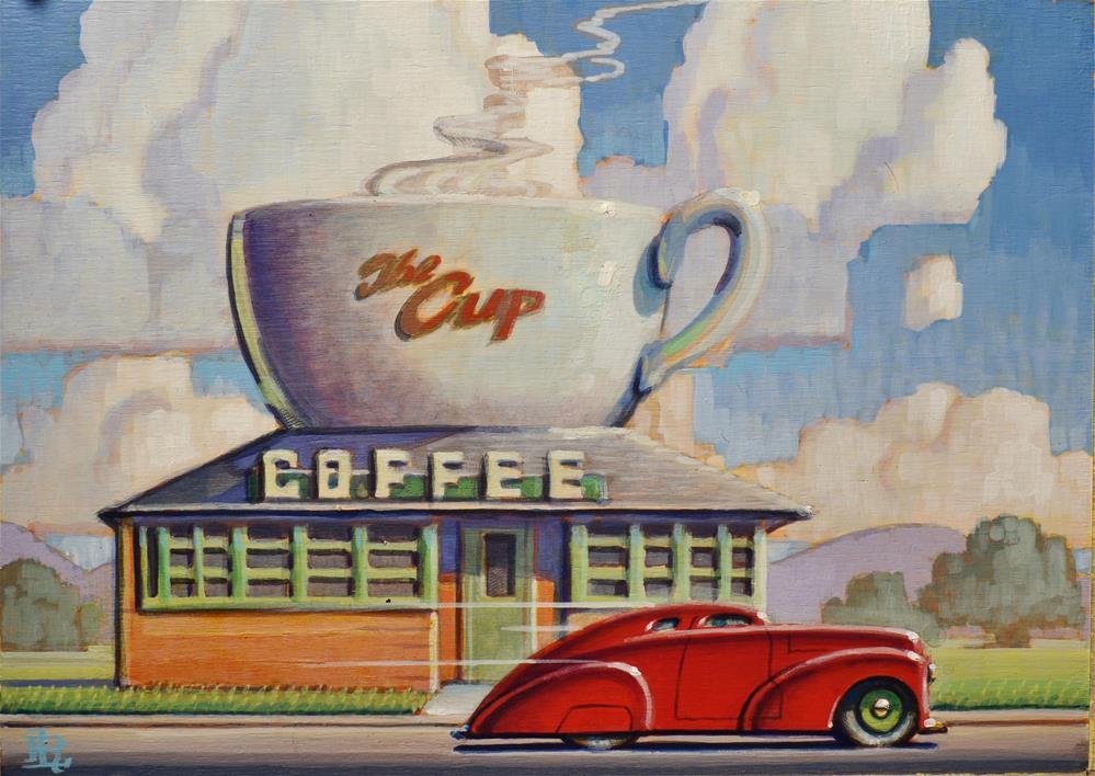 """Diner"" original fine art by Robert LaDuke"
