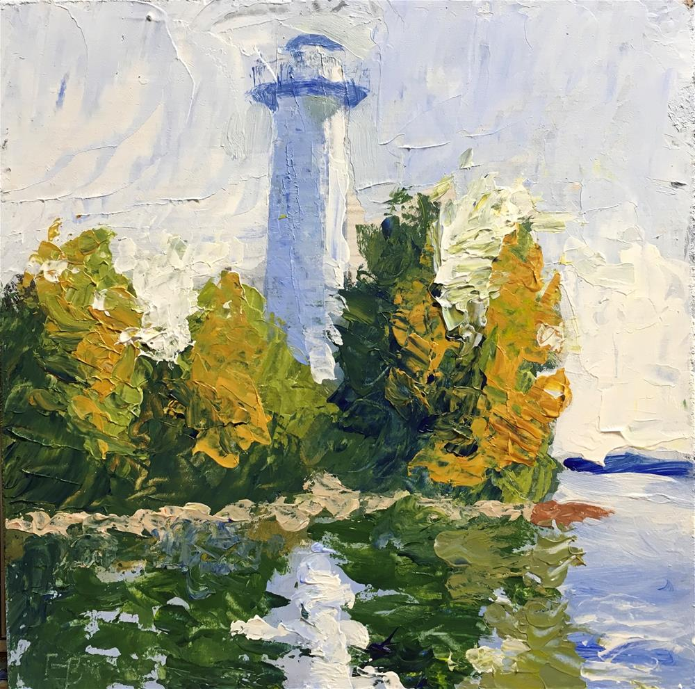 """266 Cana Island Lighthouse"" original fine art by Fred Bell"