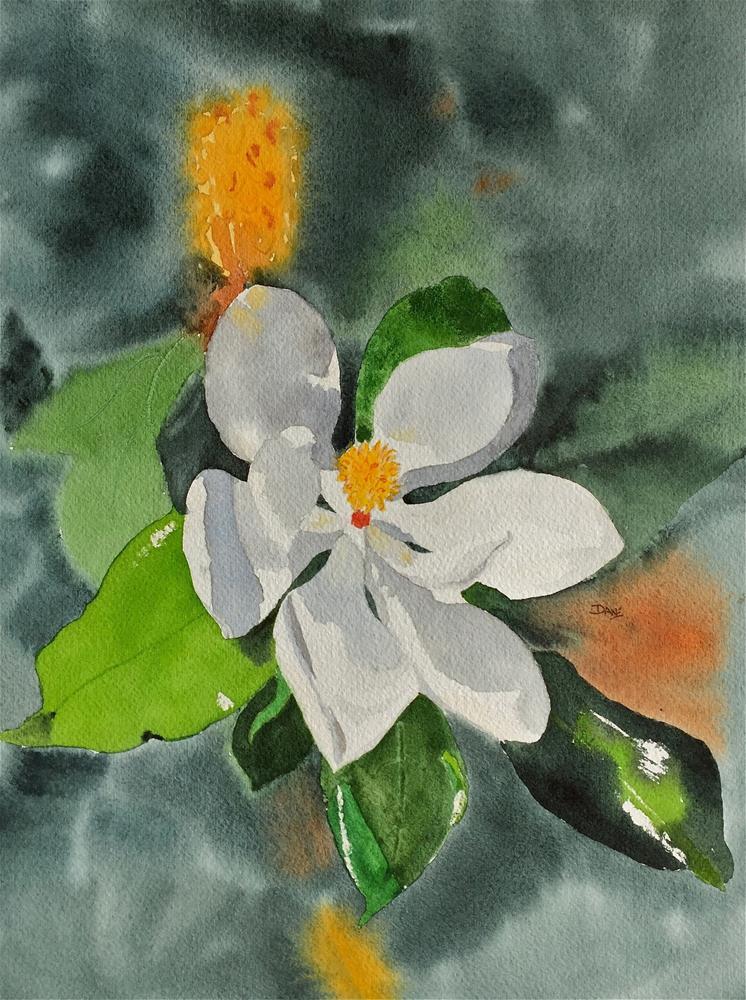 """""""Magnolia Blossom"""" original fine art by Dana Richards"""