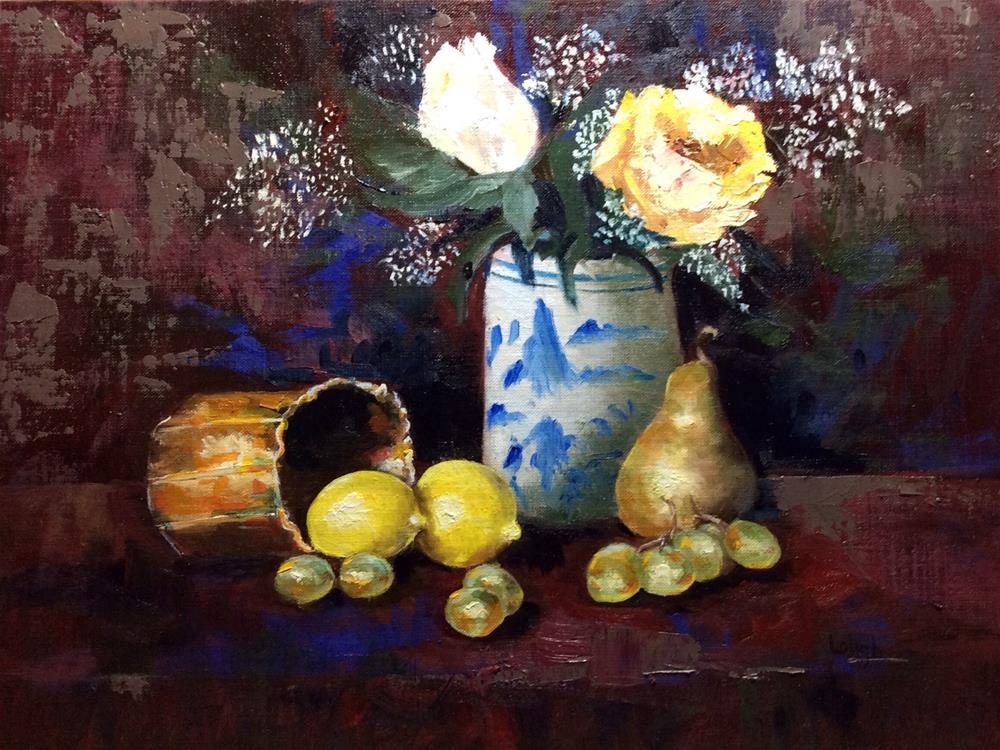 """Study in Yellows"" original fine art by Charlotte Lough"