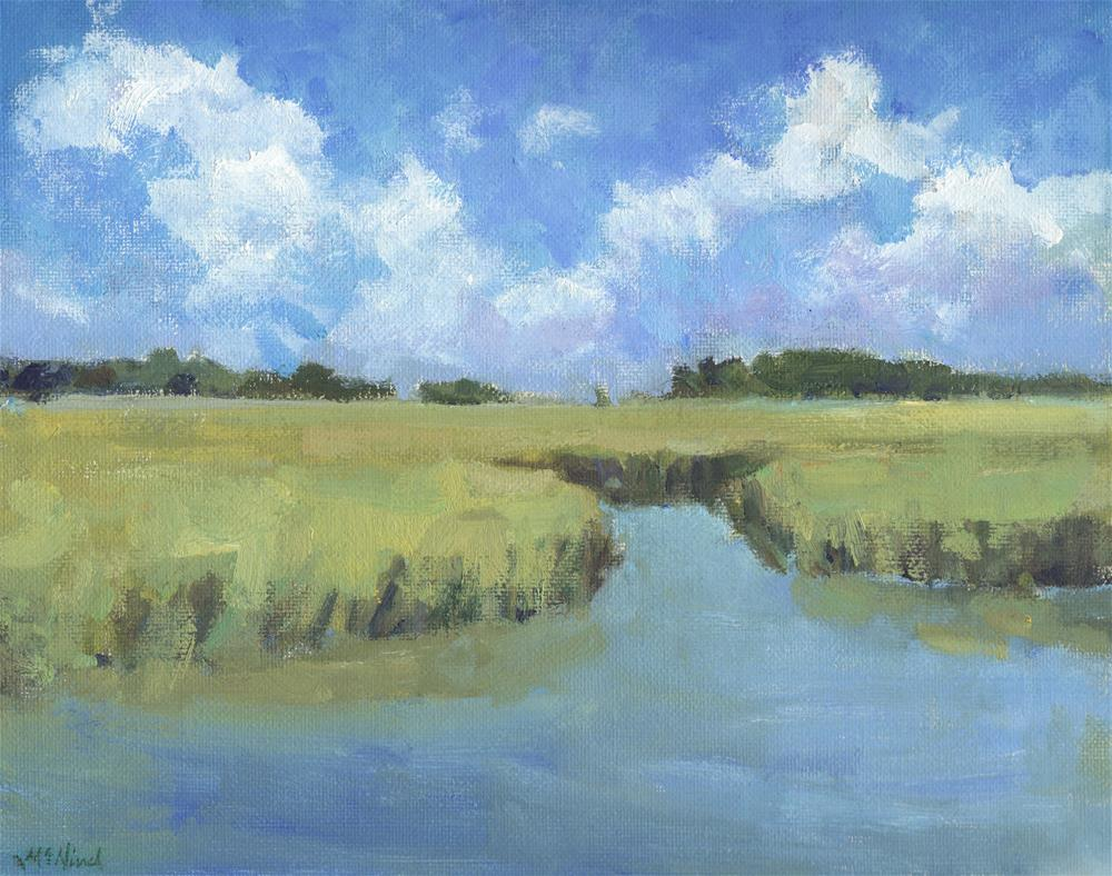 """Plein Air Marsh"" original fine art by Michel McNinch"
