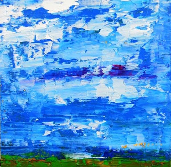"""Landscape No 63"" original fine art by Katie Jeanne Wood"