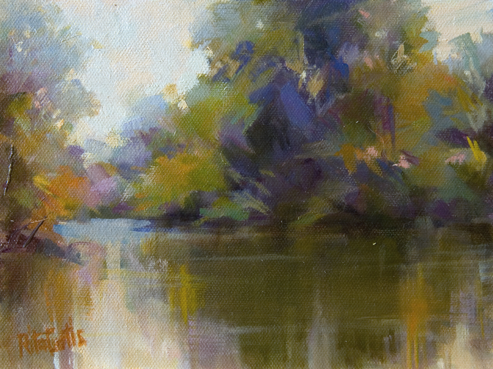 """A Hint of Autumn"" original fine art by Rita Curtis"