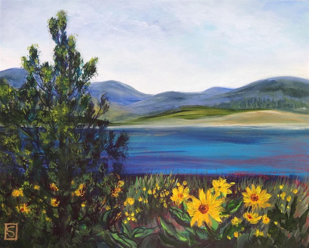 """6041 - Sunny Vista"" original fine art by Sea Dean"