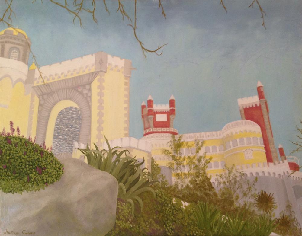 """Pena Castle, Sintra, Portugual"" original fine art by J H Graves"