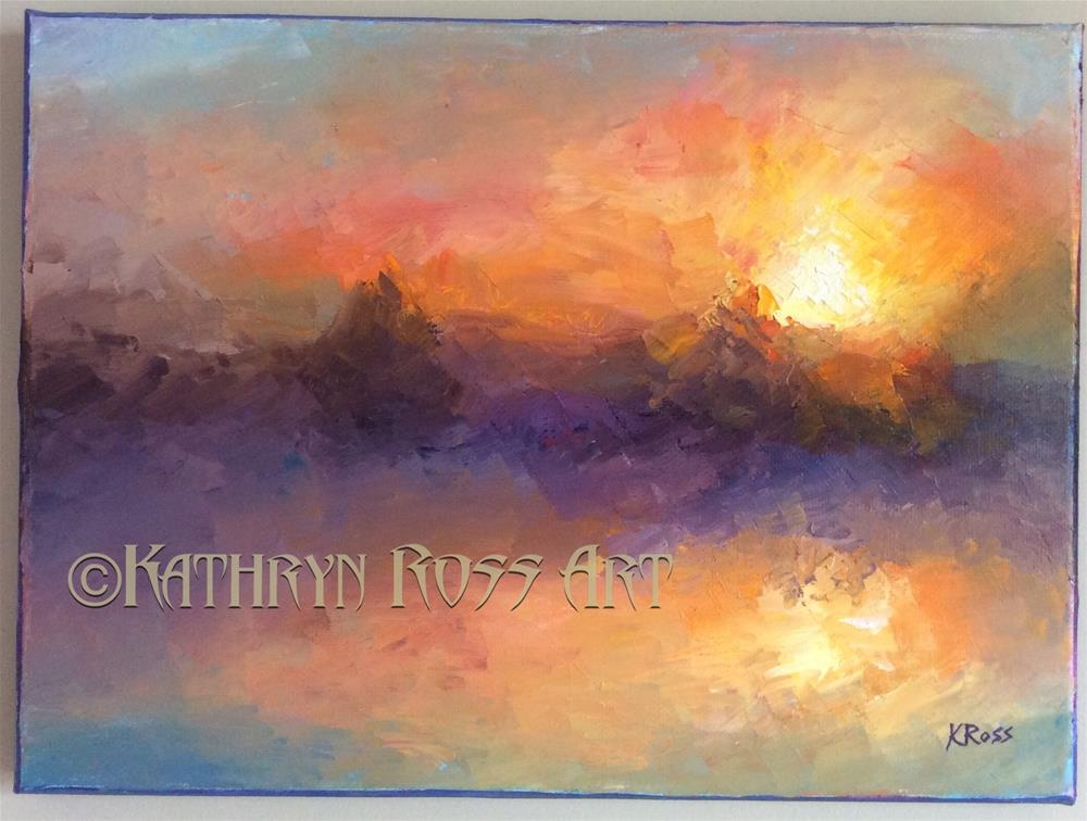 """Sunset"" original fine art by Kathryn Ross"