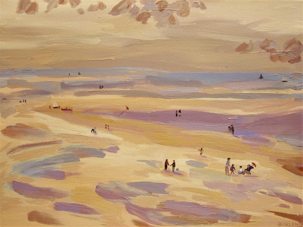 """Day at the Beach"" original fine art by Priscilla Bohlen"