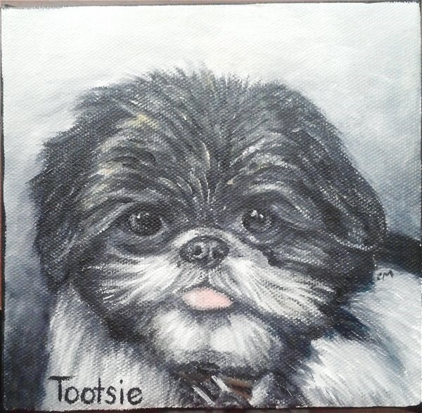 """Tootsie"" original fine art by Camille Morgan"
