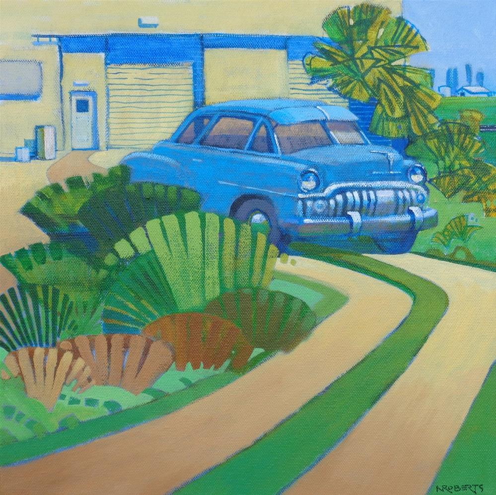 """Blue DeSoto, Knightsen"" original fine art by Nancy Roberts"