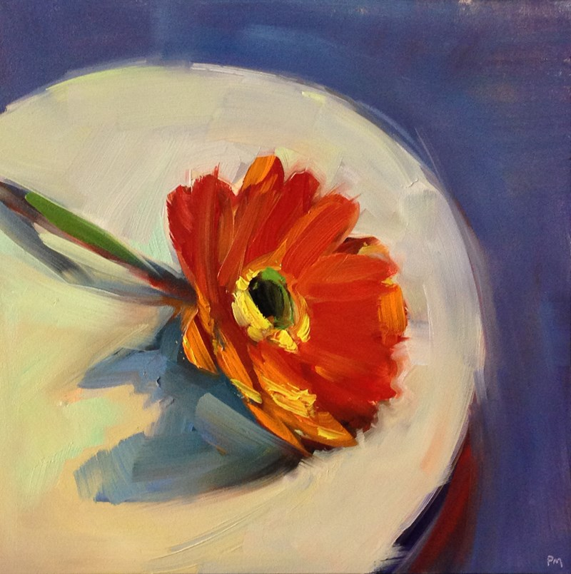 """Daisy on a Plate"" original fine art by Patti McNutt"
