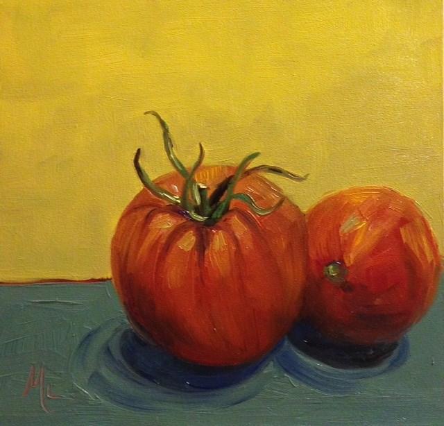 """Tomato. Tomahto"" original fine art by Marjie Laizure"