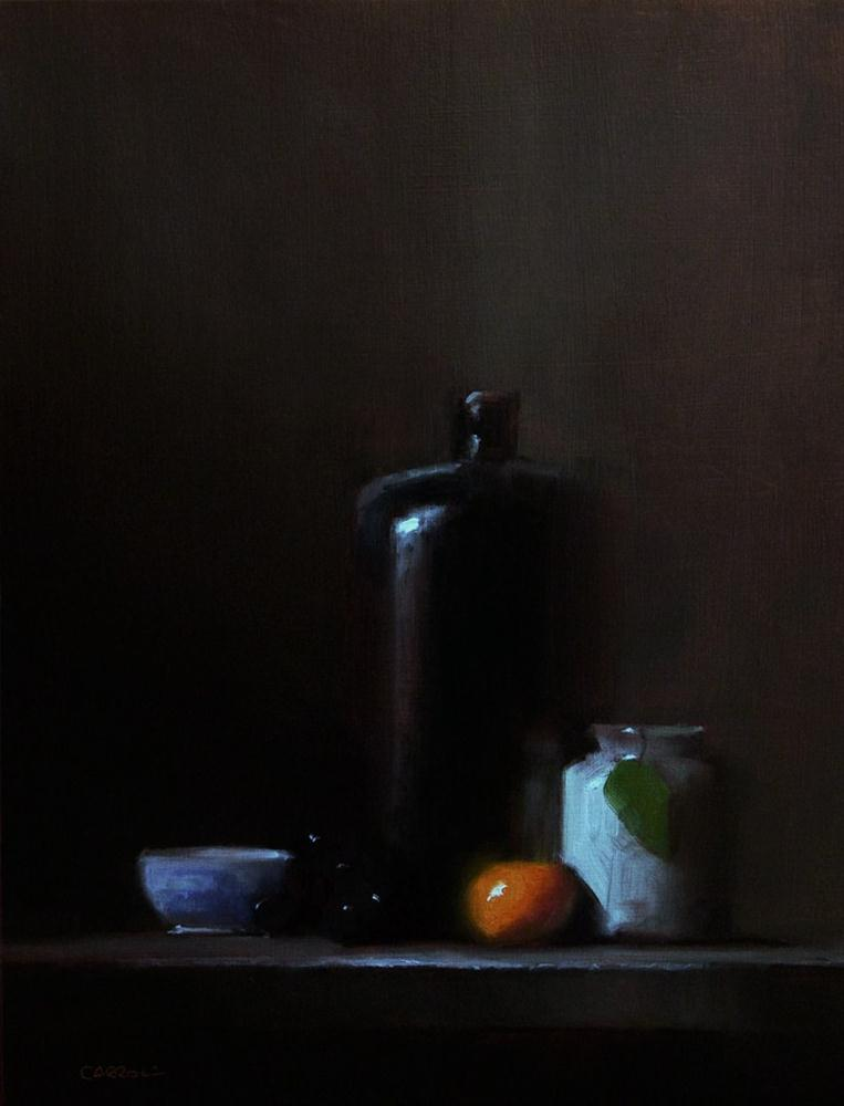 """Arrangement with Bottle"" original fine art by Neil Carroll"