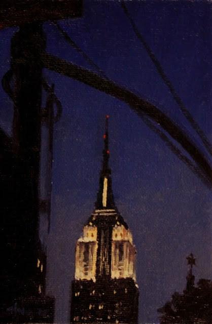 """Empire State Building in White"" original fine art by Ski Holm"