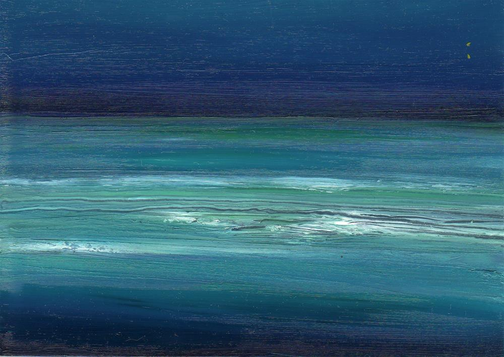 """Ocean Meditation"" original fine art by Anne Ducrot"