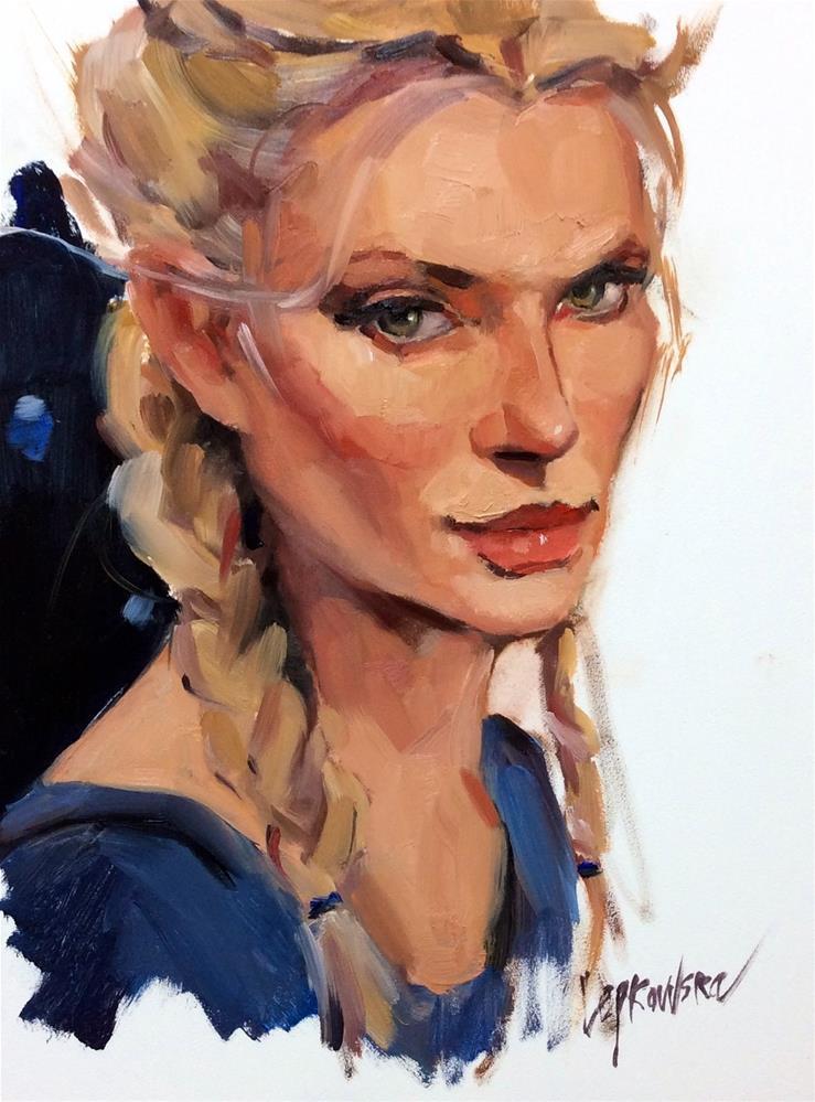 """My friend looks like a Disney Princess"" original fine art by Laurie Johnson Lepkowska"