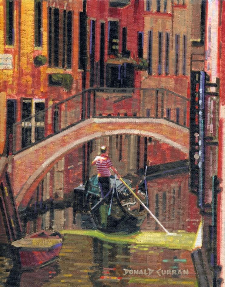 """Venice, Italy"" original fine art by Donald Curran"