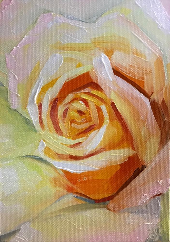 """A Rose of Many Colors"" original fine art by Bobbie Cook"